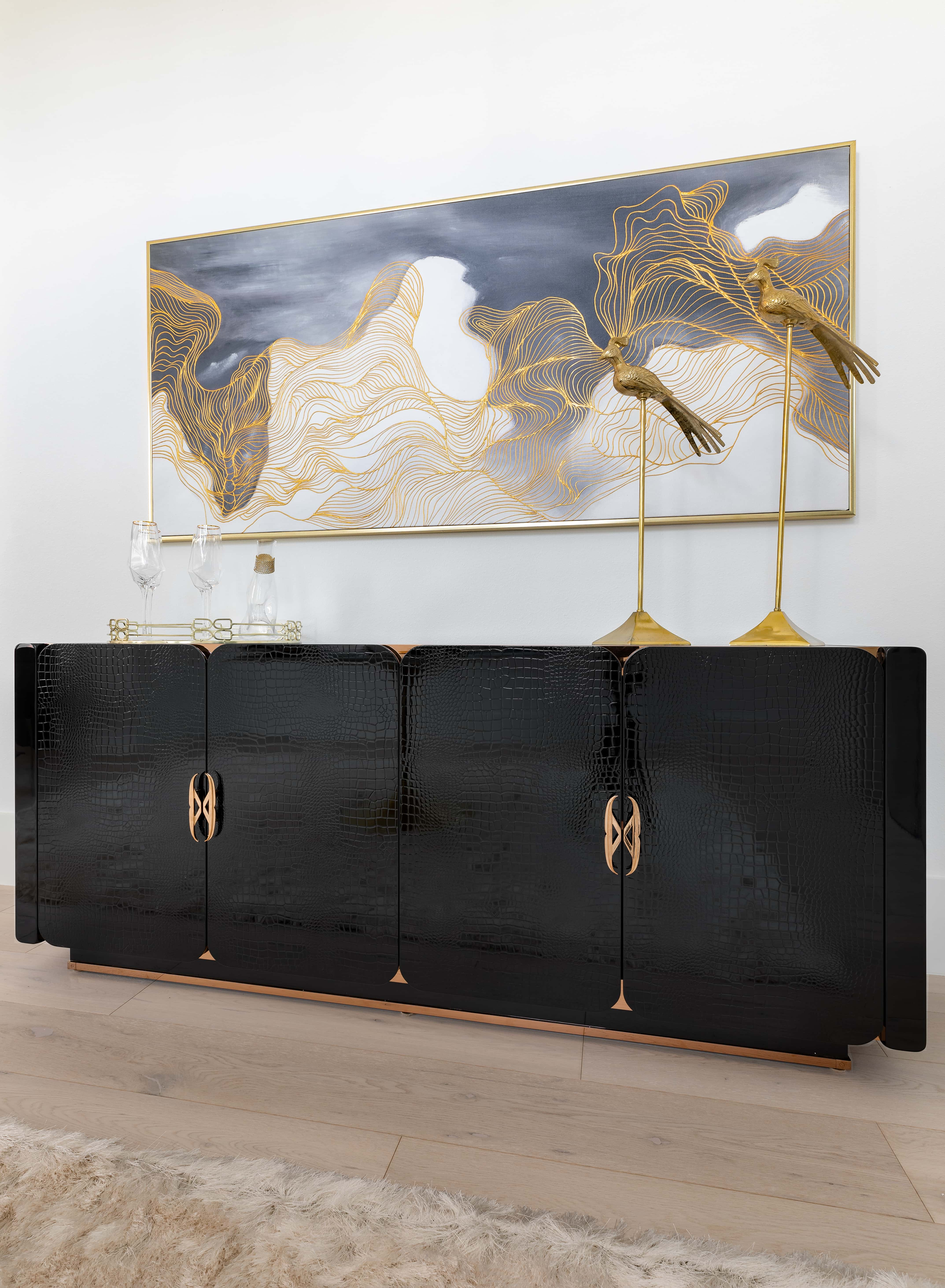 cabinets and art
