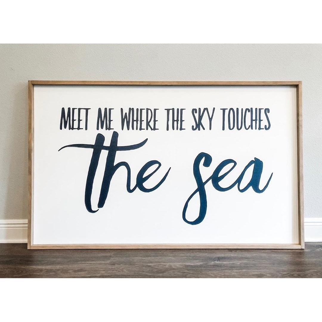 meet me where the sky touches the sea square