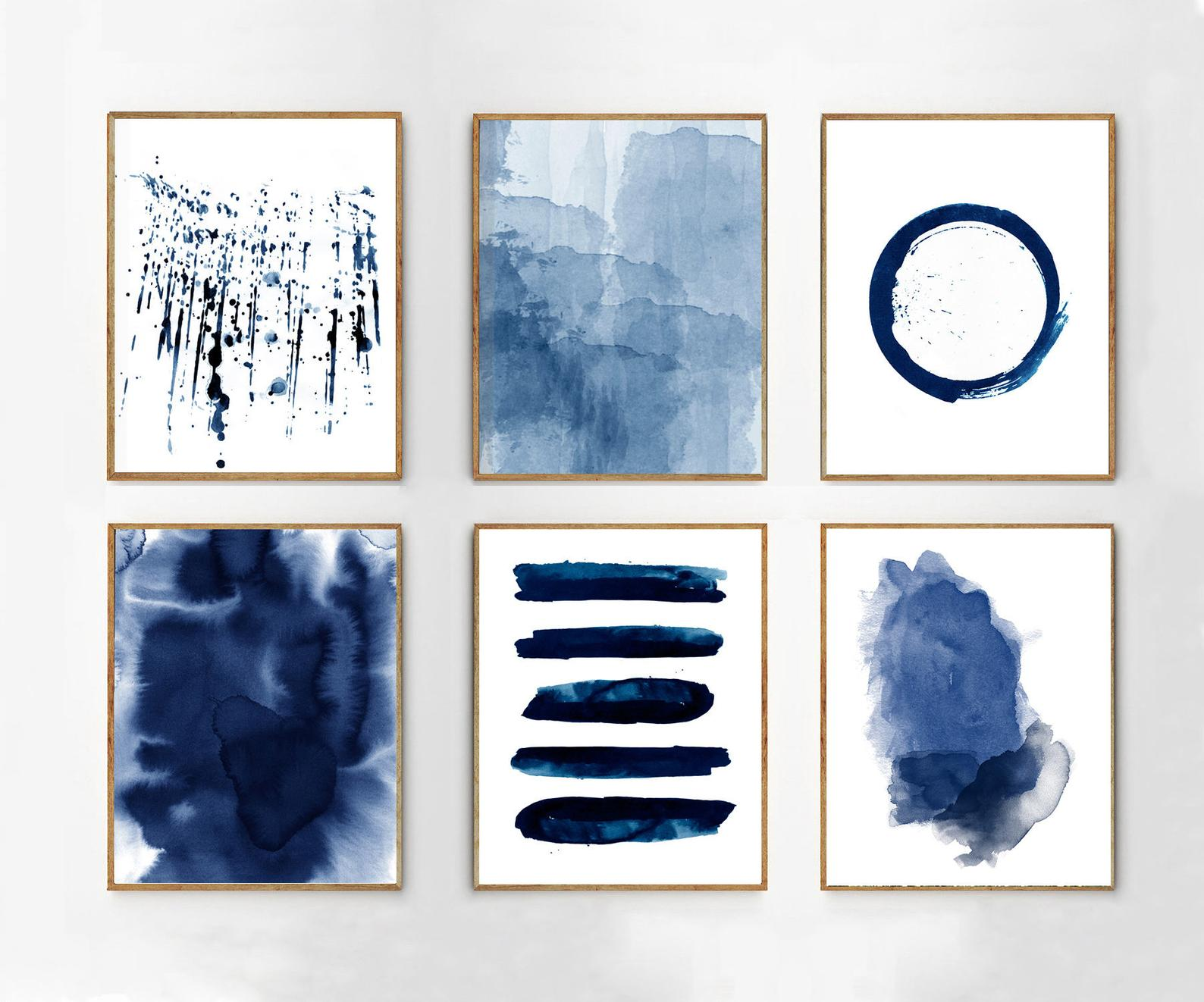 BLUE ART WALL COLLAGE