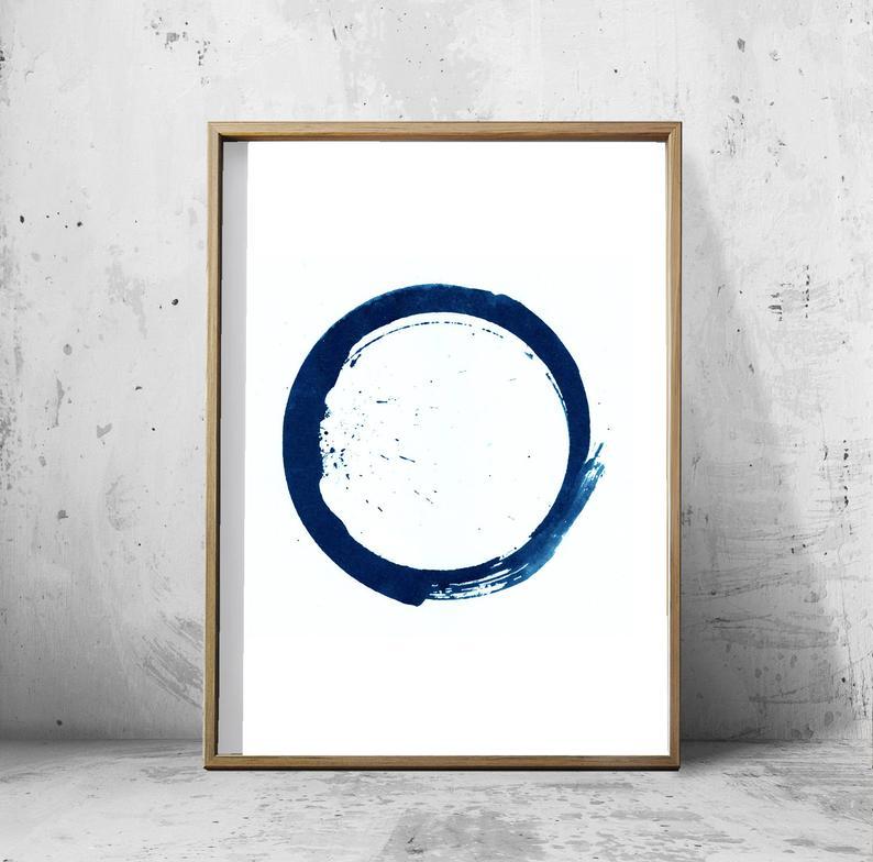 BLUE CIRCLE WALL ART