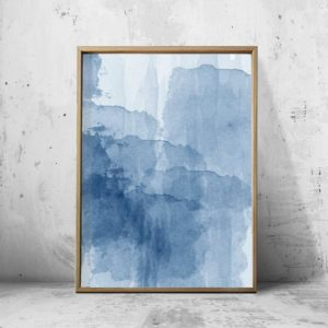 BLUE INK WALL ART