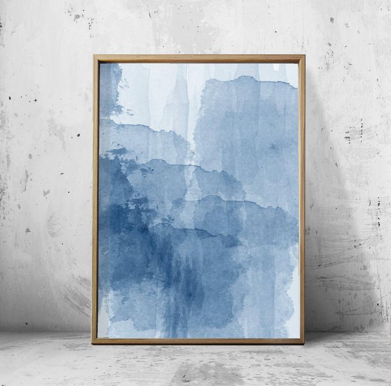 BLUE INK WALL ART