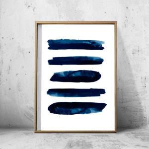 BLUE LINES ART WALL ART