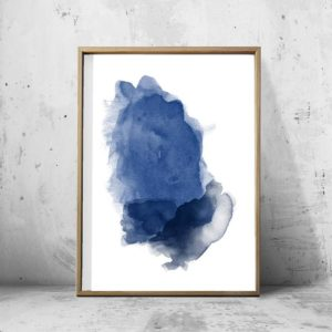 BLUE MIST WALL ART