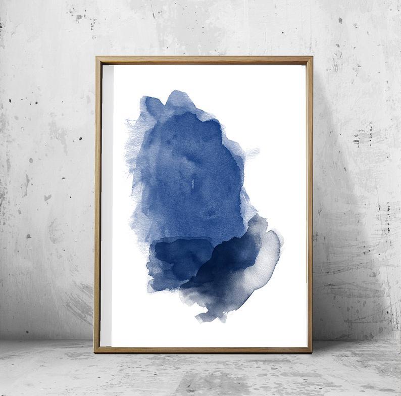 BLUE MIST WALL ART