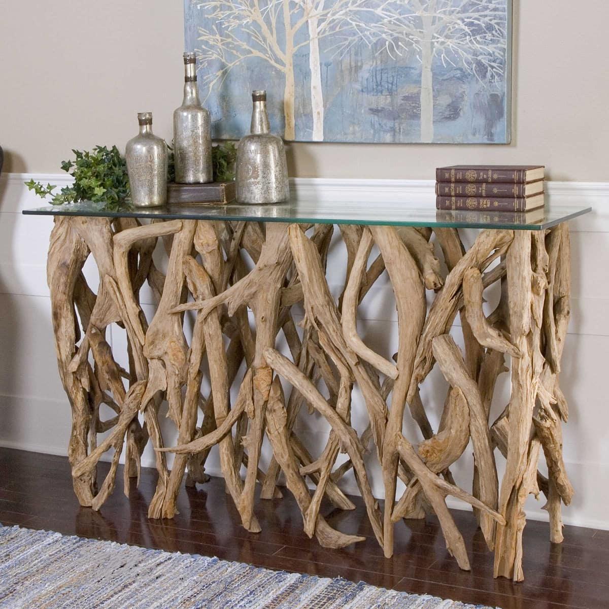 Teak wood console